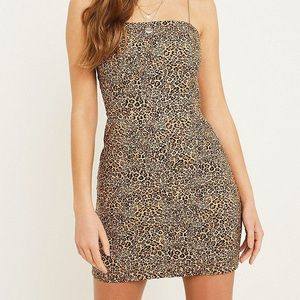 Urban Outfitters Cheetah Print Form Fitting Dress